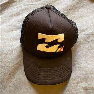 Black Billabong trucker hat